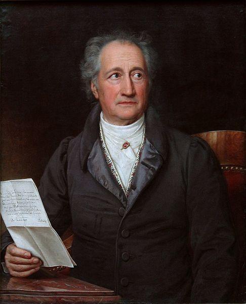 Porträt von Johann Wolfgang von Goethe