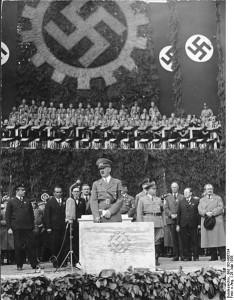 Grundsteinlegung VW-Werk durch Hitler