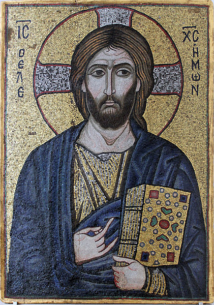 Mosaik-Ikone von Jesus Christus