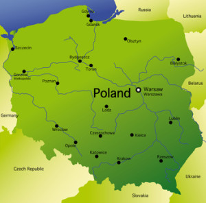 Landkarte von Polen
